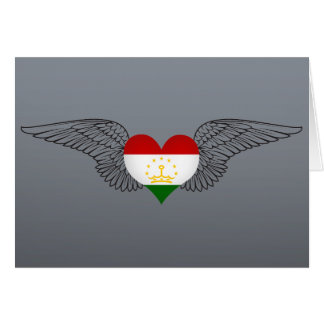 I Love Tajikistan -wings Greeting Card