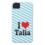 I love Talia iPhone 4 Cases