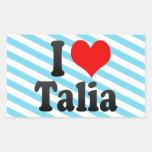 I love Talia Rectangular Sticker
