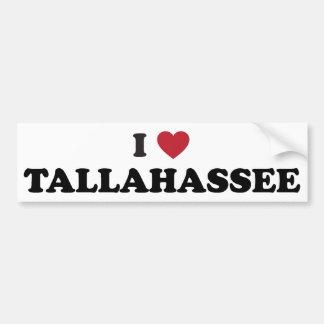 I Love Tallahassee Florida Bumper Sticker