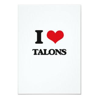 I love Talons 9 Cm X 13 Cm Invitation Card