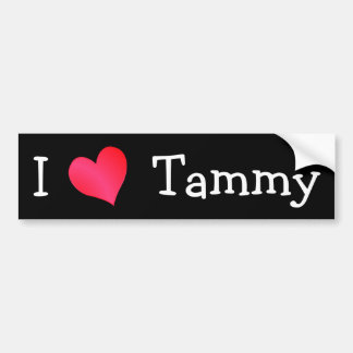 I Love Tammy Bumper Sticker