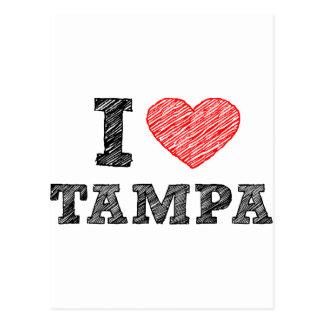 I Love Tampa Postcard