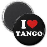 I Love Tango 6 Cm Round Magnet
