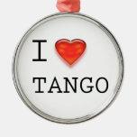 I love Tango Christmas Ornaments