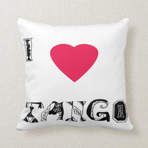 I love Tango Throw Pillow
