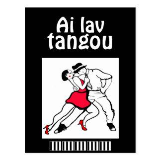 I Love Tango Funny Spanenglish Postcard