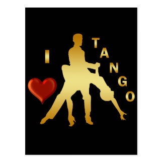 I LOVE TANGO POSTCARD