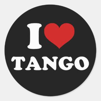 I Love Tango Stickers