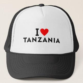 I love Tanzania country like heart travel tourism Trucker Hat