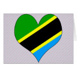 I Love Tanzania Greeting Cards
