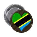 I Love Tanzania Pinback Button