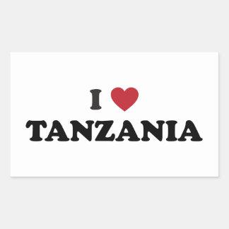 I Love Tanzania Rectangular Sticker