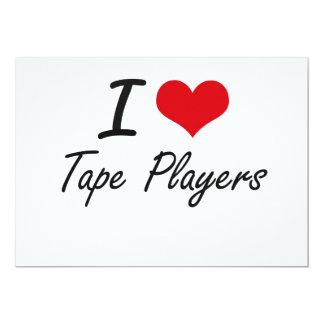 I love Tape Players 13 Cm X 18 Cm Invitation Card