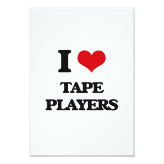 I love Tape Players 3.5x5 Paper Invitation Card