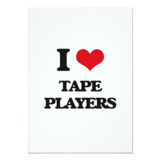 I love Tape Players 5x7 Paper Invitation Card