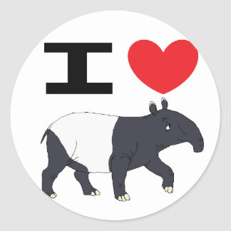 I love Tapir sticker