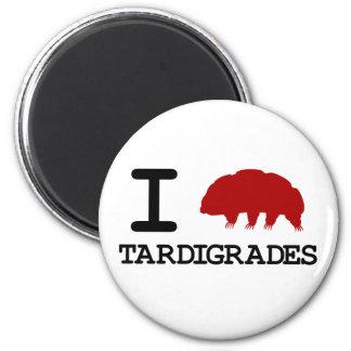 I Love Tardigrades 6 Cm Round Magnet