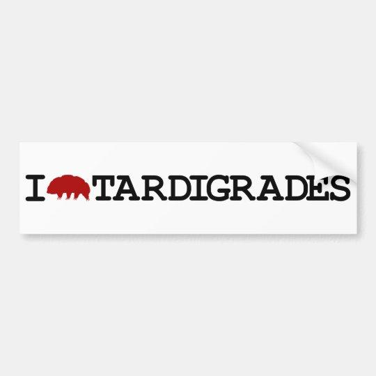 I Love Tardigrades Bumper Sticker