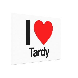 i love tardy stretched canvas print