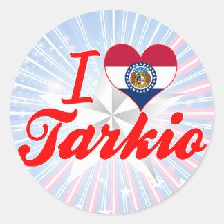 I Love Tarkio Missouri Round Stickers