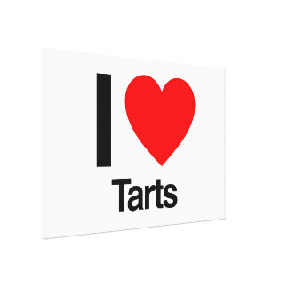 i love tarts gallery wrapped canvas