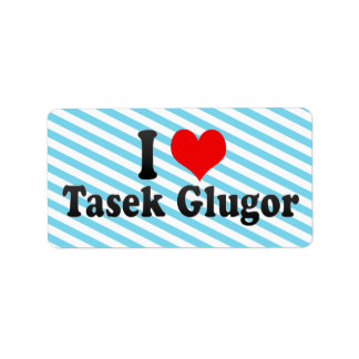 I Love Tasek Glugor, Malaysia Address Label