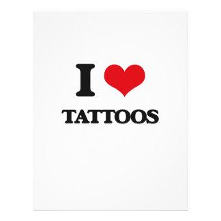 I love Tattoos 21.5 Cm X 28 Cm Flyer