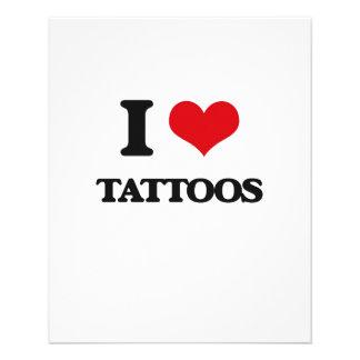 I love Tattoos 11.5 Cm X 14 Cm Flyer