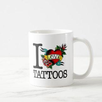 i love tattoos tattoo inked tat design basic white mug