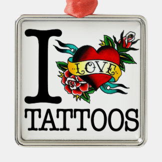 i love tattoos tattoo inked tat design christmas ornament