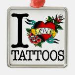i love tattoos tattoo inked tat design christmas ornament
