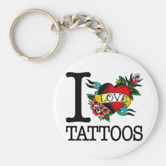 i love tattoos tattoo inked tat design key ring
