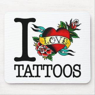 i love tattoos tattoo inked tat design mouse mat