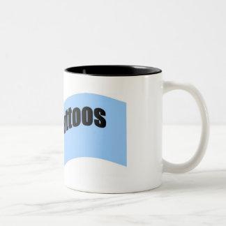 i love tatttoos ribbon look coffee mug