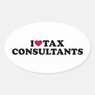 I love tax consultants oval sticker