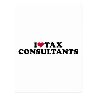 I love tax consultants postcard