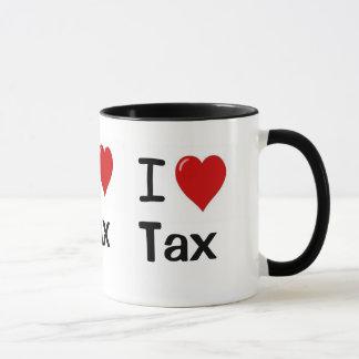 I Love Tax I Love Tax I Heart Tax Triple Sided Mug