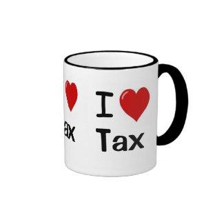 I Love Tax I Love Tax I Heart Tax Triple Sided Mugs