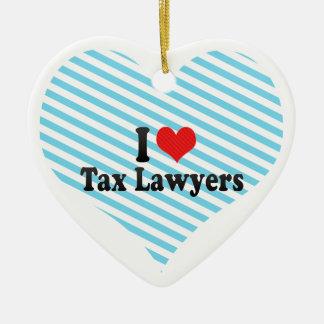 I Love Tax Lawyers Ceramic Heart Decoration