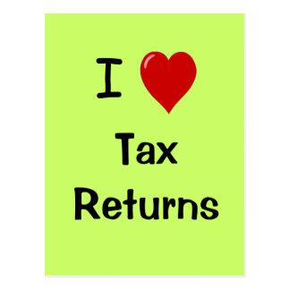 I Love Tax Returns - Tax Postcard
