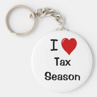 I Love Tax Season - I Heart Tax Season Key Ring