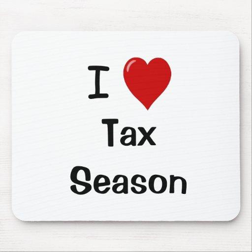 I Love Tax season - I Heart Tax season Mousepad