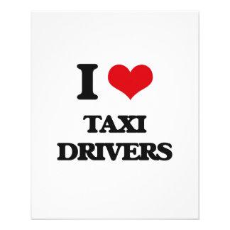 I love Taxi Drivers 11.5 Cm X 14 Cm Flyer