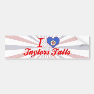 I Love Taylors Falls, Minnesota Bumper Stickers