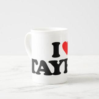 I LOVE TAYRAS PORCELAIN MUG