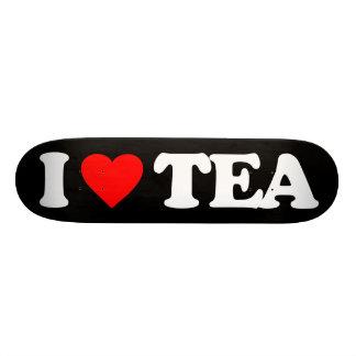 I LOVE TEA 21.6 CM OLD SCHOOL SKATEBOARD DECK