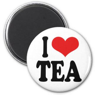 I Love Tea 6 Cm Round Magnet