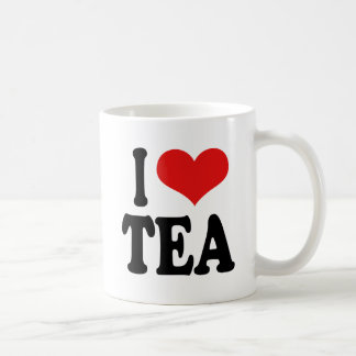 I Love Tea Basic White Mug