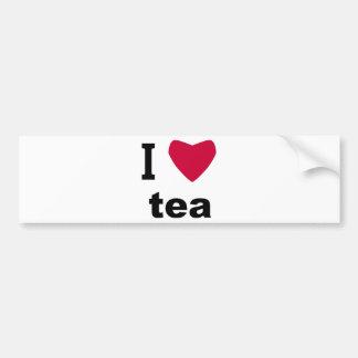 I Love Tea Bumper Sticker